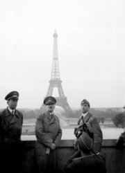 Adolf Hitler being filmed in Paris 1940.