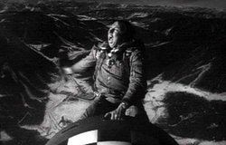 Slim Pickens, as the B-52 Bomber pilot, riding the bomb to global destruction.