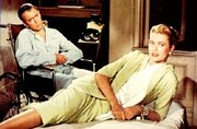 Jimmy Stewart and Grace Kelly in a scene from the movie.