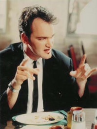 Mr. Brown (Tarantino) offers insight into Madonna's song Like a Virgin.