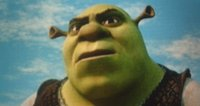 Shrek, voiced by Mike Myers.