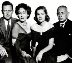 The main cast - William Holden, Gloria Swanson, Nancy Olson and Erich Von Stroheim.