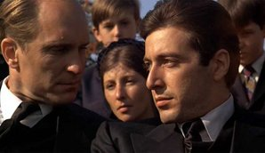 Robert Duvall (left) and Al Pacino in The Godfather