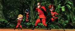 The Incredibles family posing.