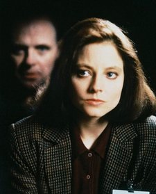 Jodie Foster and Anthony Hopkins in the film version